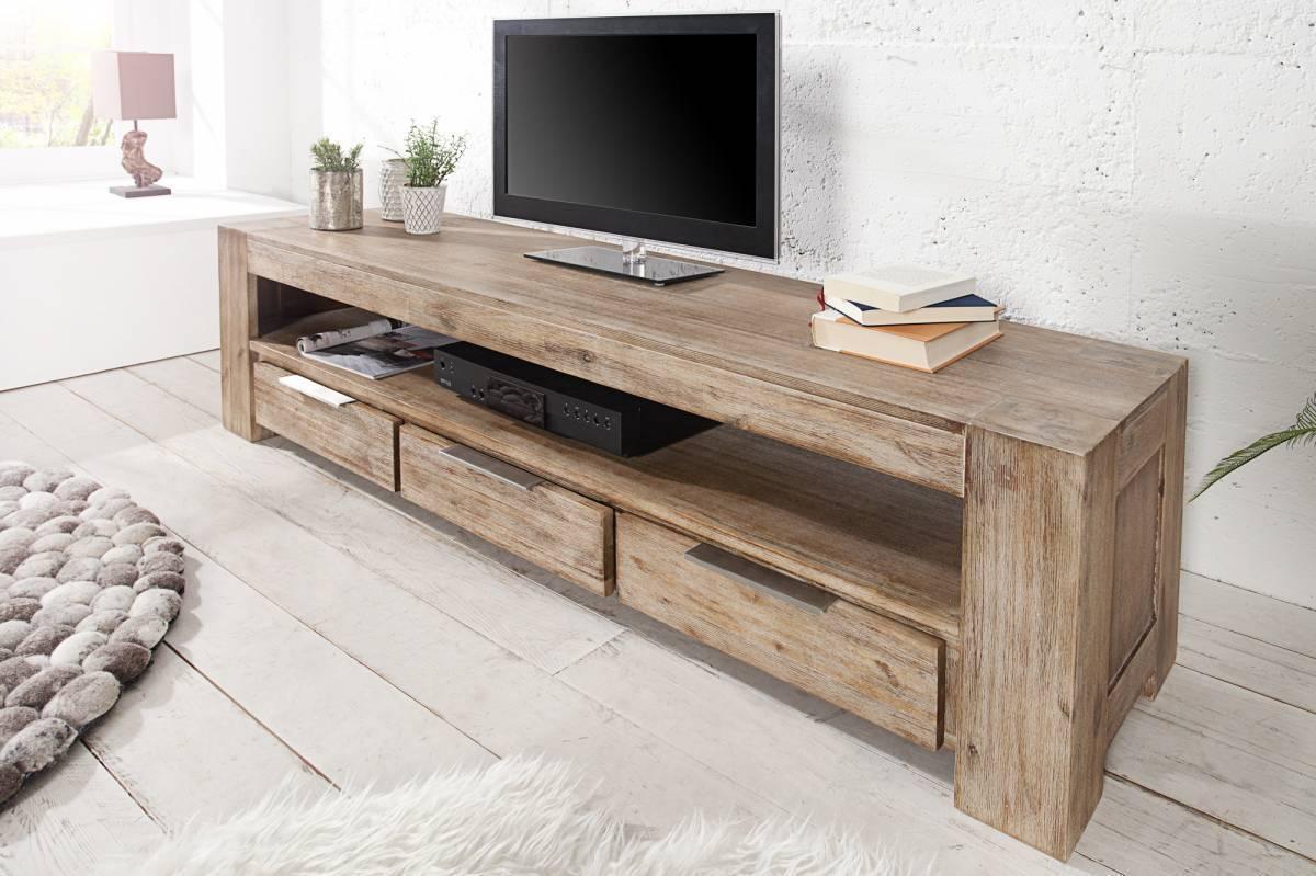 TV Stolík GIENT 170 cm - hnedá