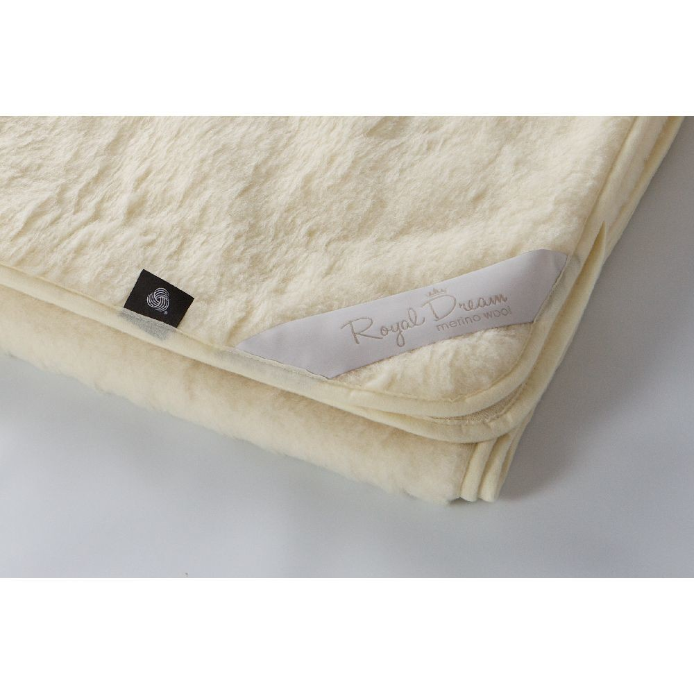 Béžová vlnená deka Royal Dream Merino, 220x200cm