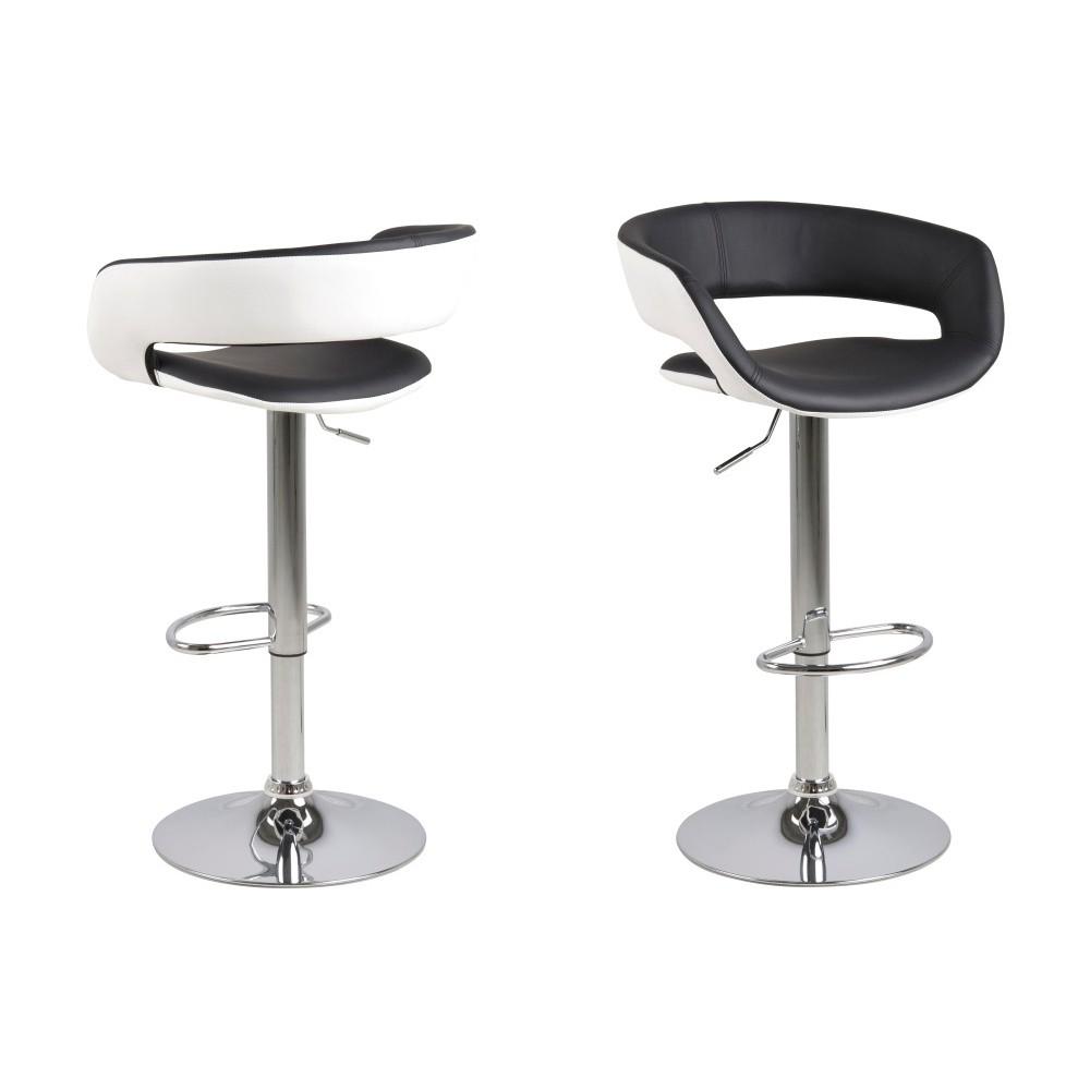 Sada 2 čierno-bielych barových stoličiek Actona Grace