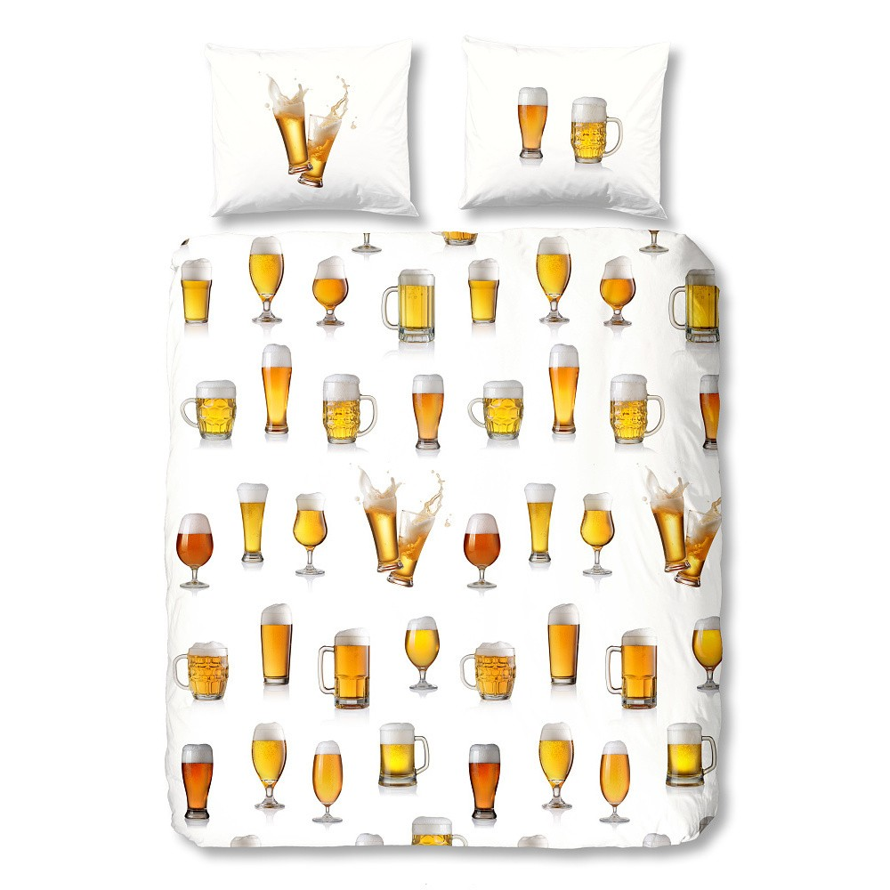 Bavlnené obliečky Good Morning Beer, 200x200cm