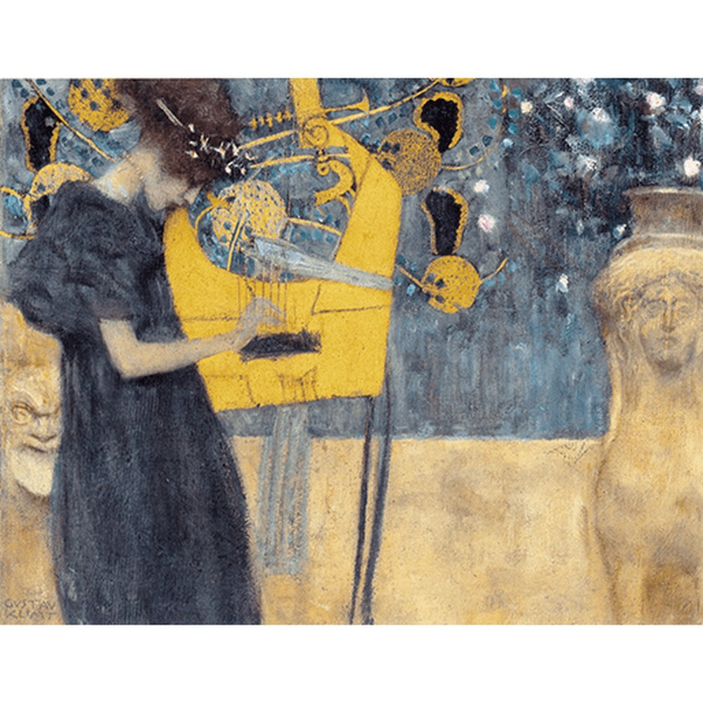 Obraz Gustav Klimt - Music, 90x70cm