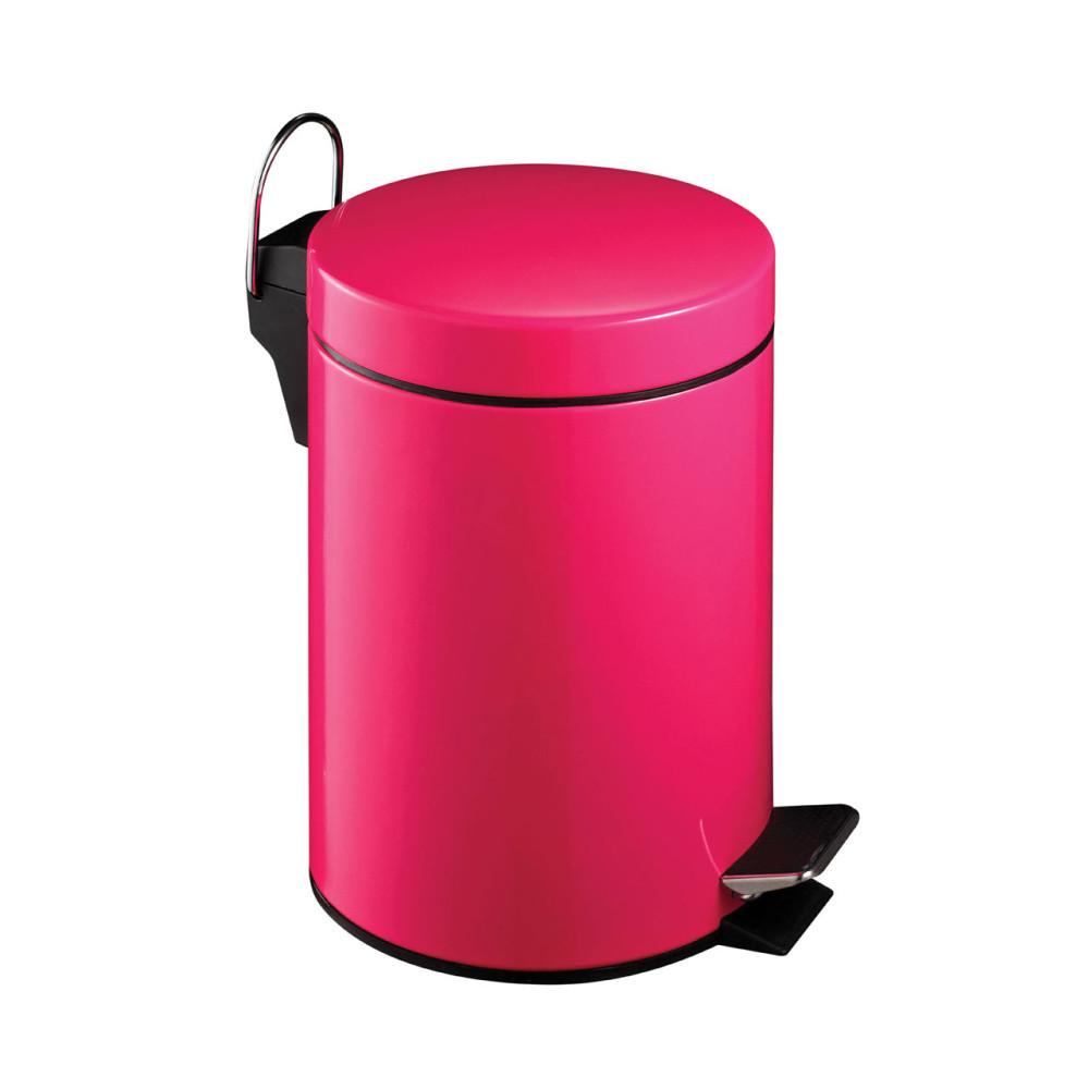 Ružový pedálový kôš Premier Housewares, 3 l