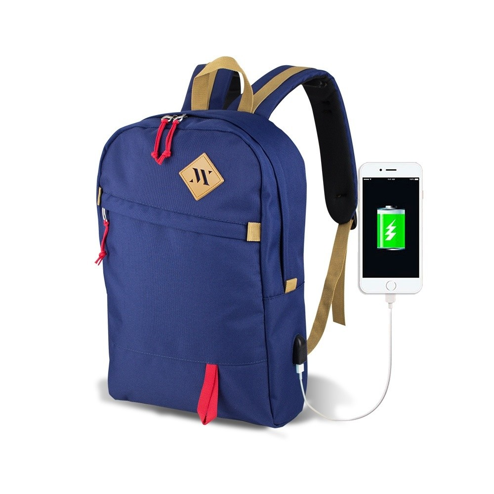 Modrý batoh s USB portom My Valice FREEDOM Smart Bag