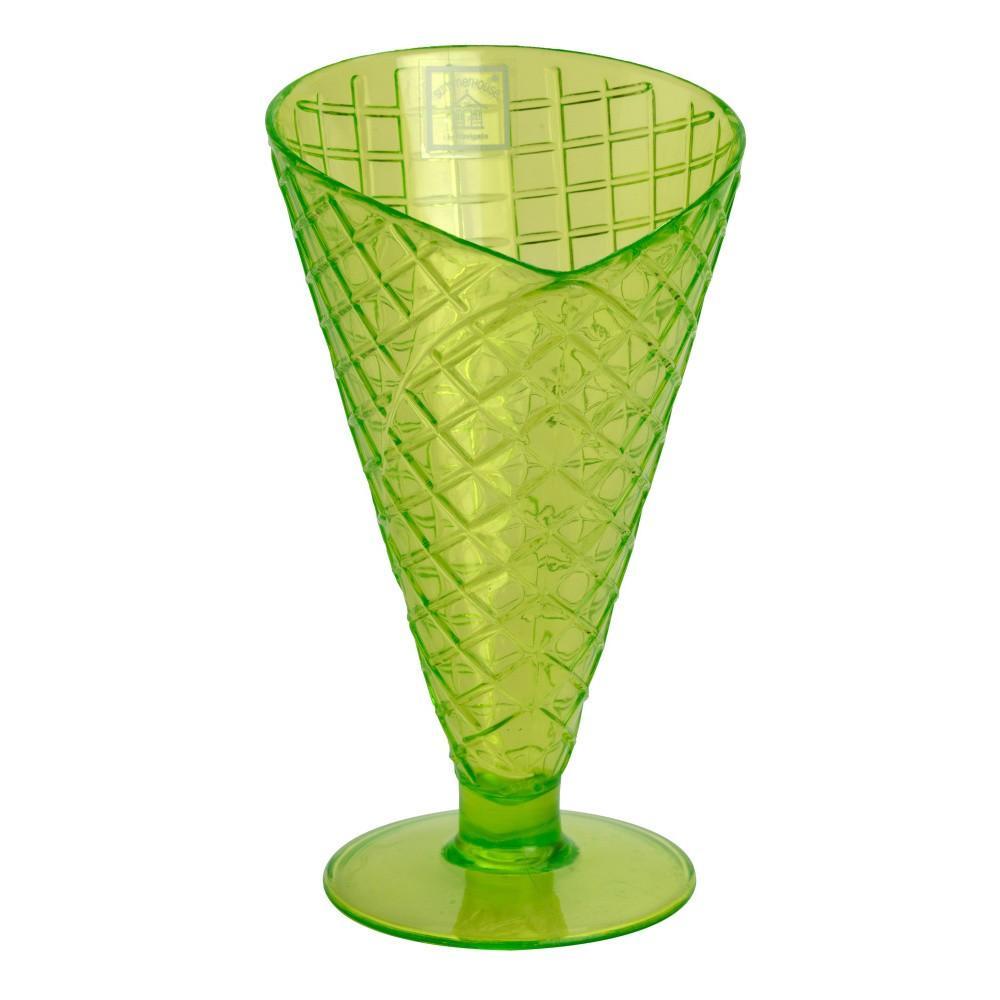 Zelený plastový zmrzlinový pohár Navigate Sundae Cone