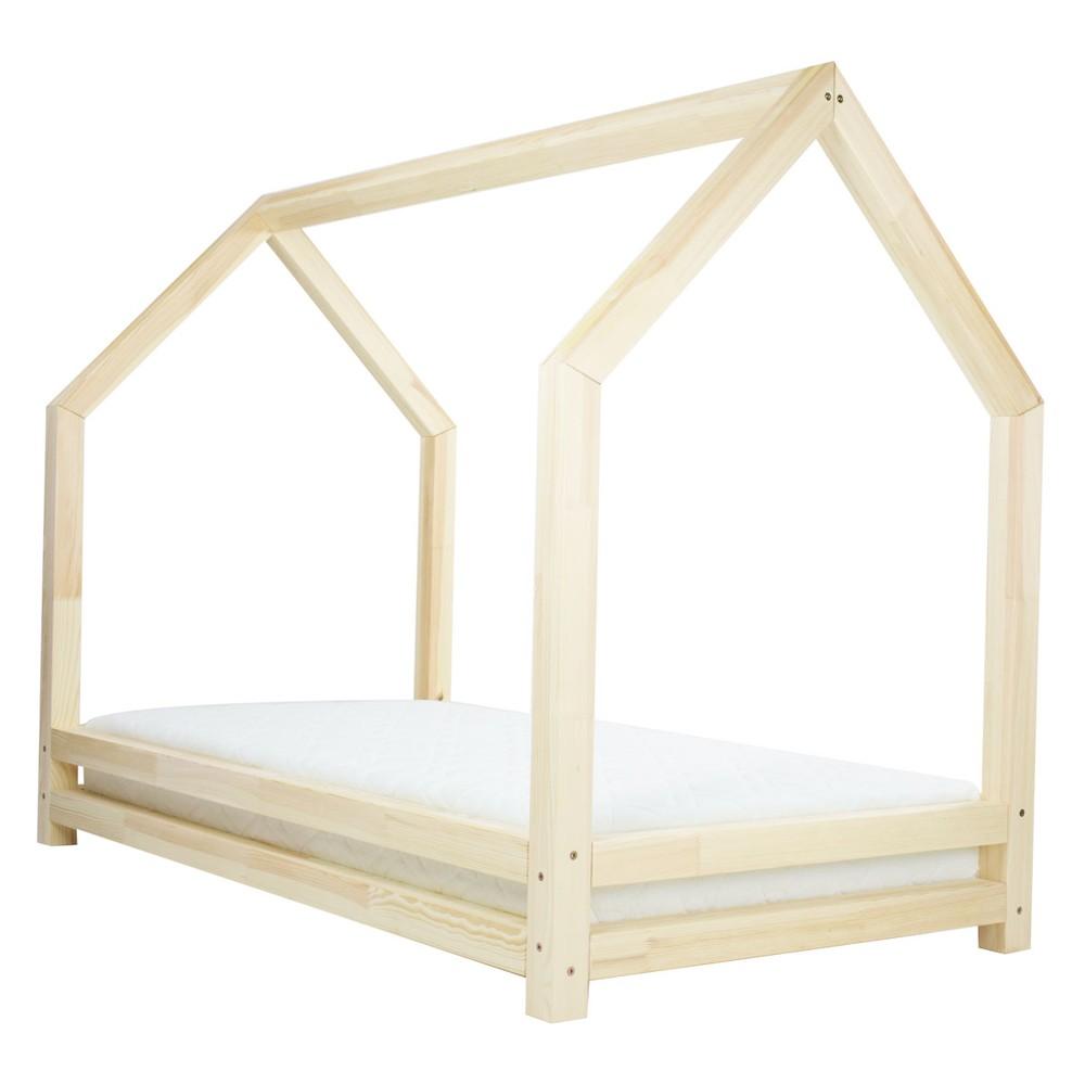 Prírodná jednolôžková posteľ z borovicového dreva Benlemi Funny, 90 x 180 cm