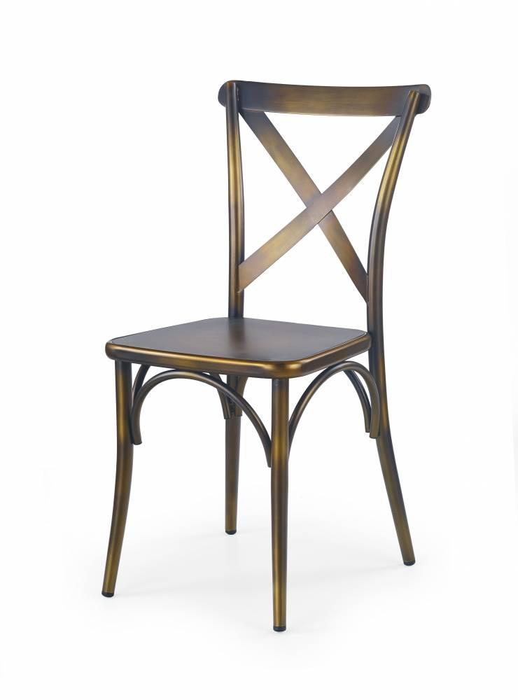 Jedálenská stolička K205 (žltá + kov)