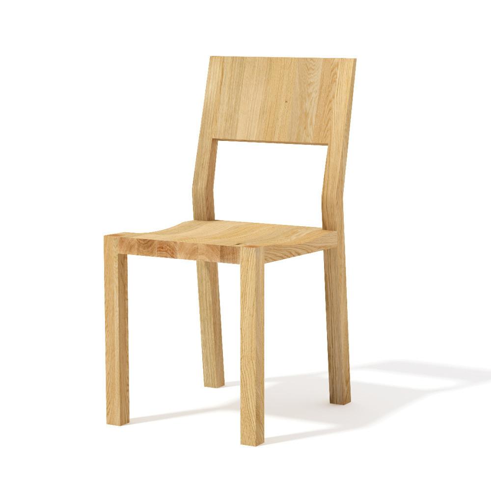 Jedálenská stolička z masívneho dubového dreva Javorina Hevy