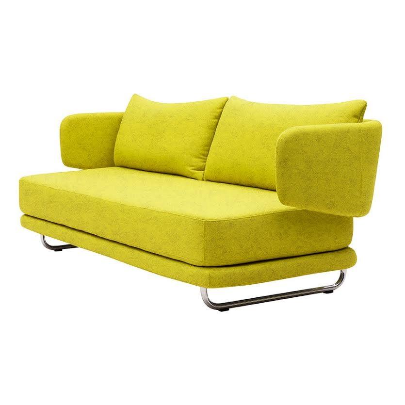 Zelenožltá rozkladacia sedačka Softline Jasper