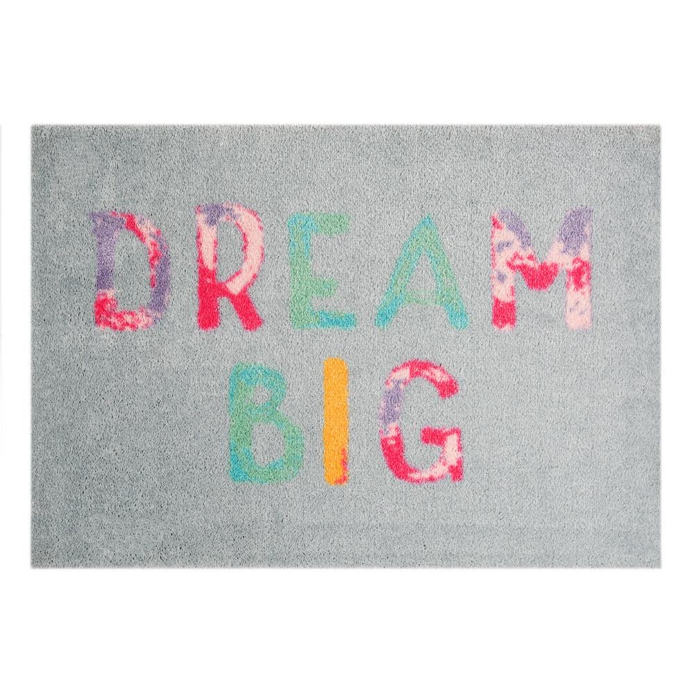 Sivá rohožka Mint Rugs  StateMat Dream Big, 50x75cm