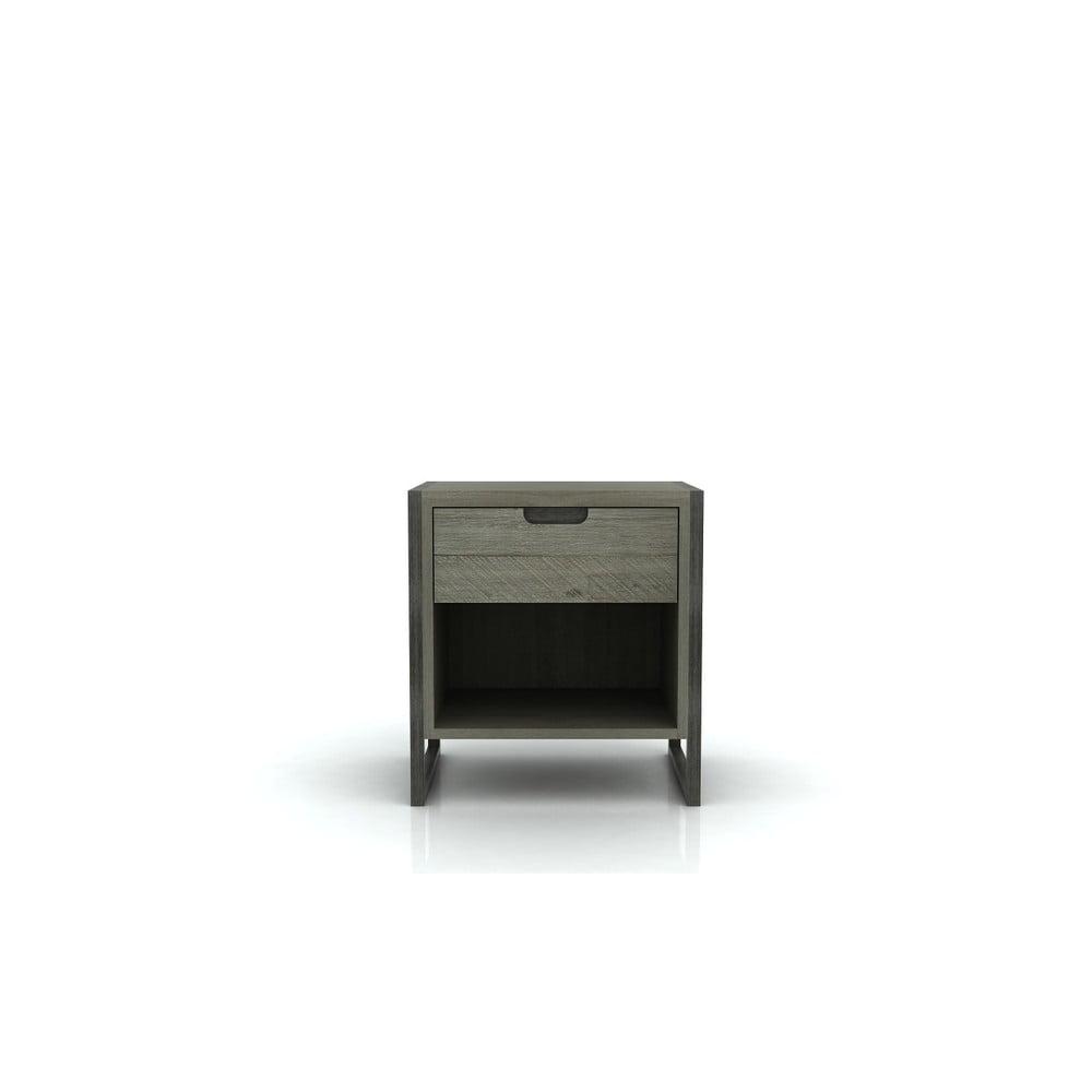 Nočný stolík s 1 zásuvkou z akáciového dreva Livin Hill Flow
