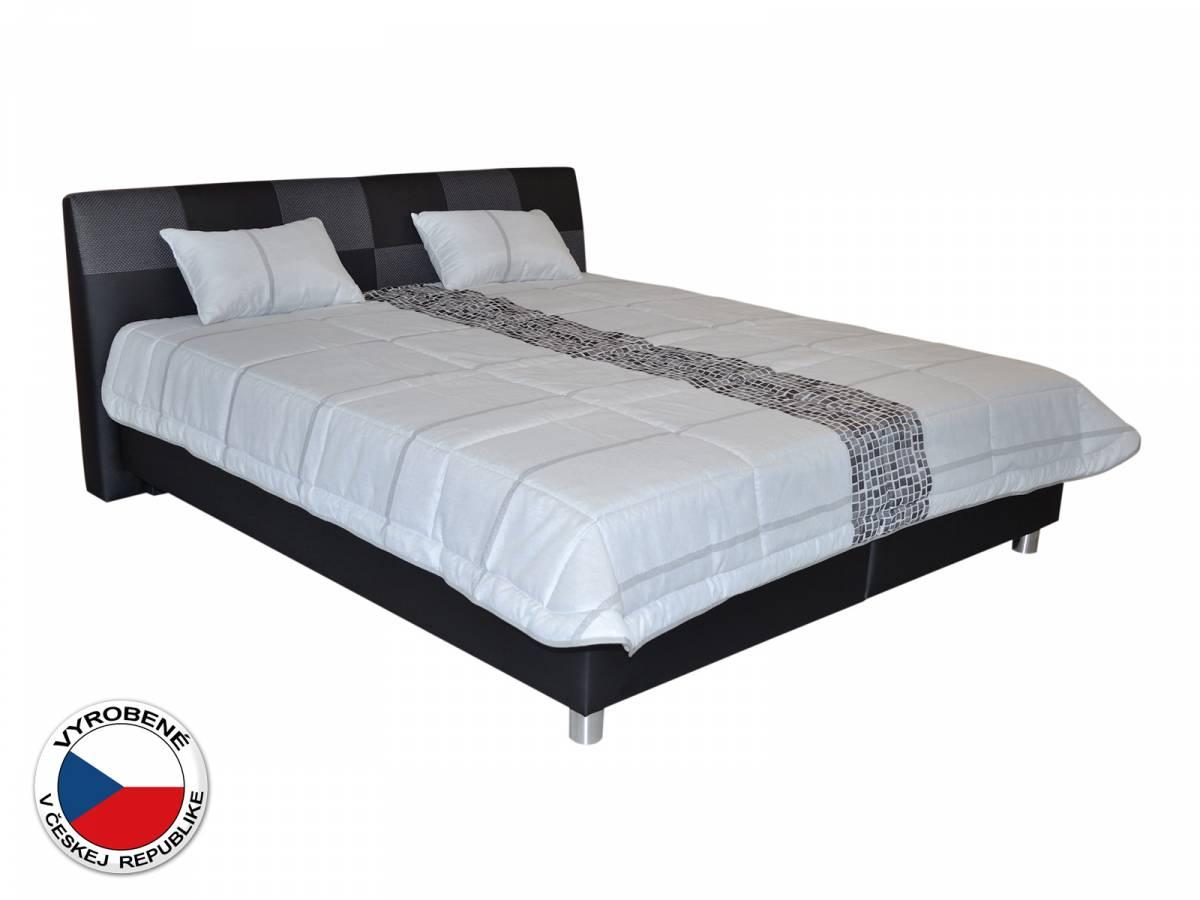 Manželská posteľ 160 cm Blanár Nice (čierna) (s roštom a matracom Nelly)