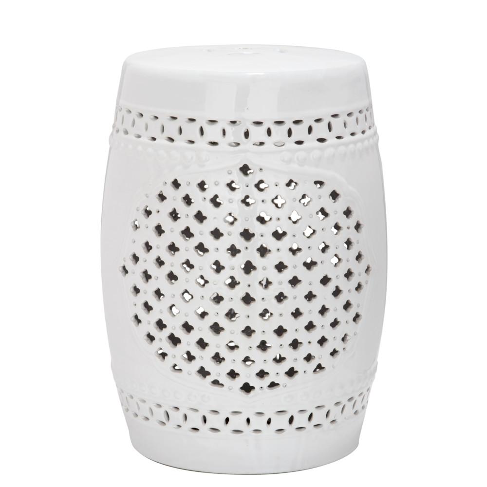 Biely keramický stolík Safavieh Marbella