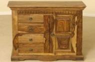 Furniture nábytok  Masívna komoda s 4 zásuvkami a 2 skrinkami  z Palisanderu  Árjádocht  75x45x90 cm