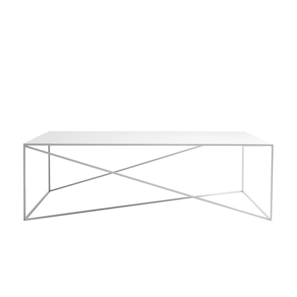 Biely konferenčný stolík Custom Form Memo, šírka 140 cm