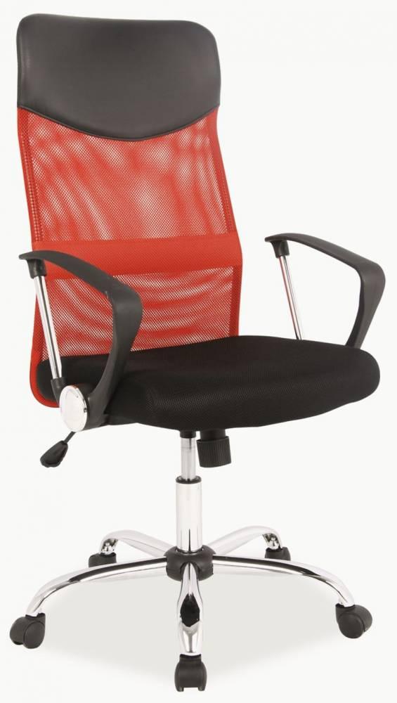 Kancelárska stolička Q-025 červené + čierna