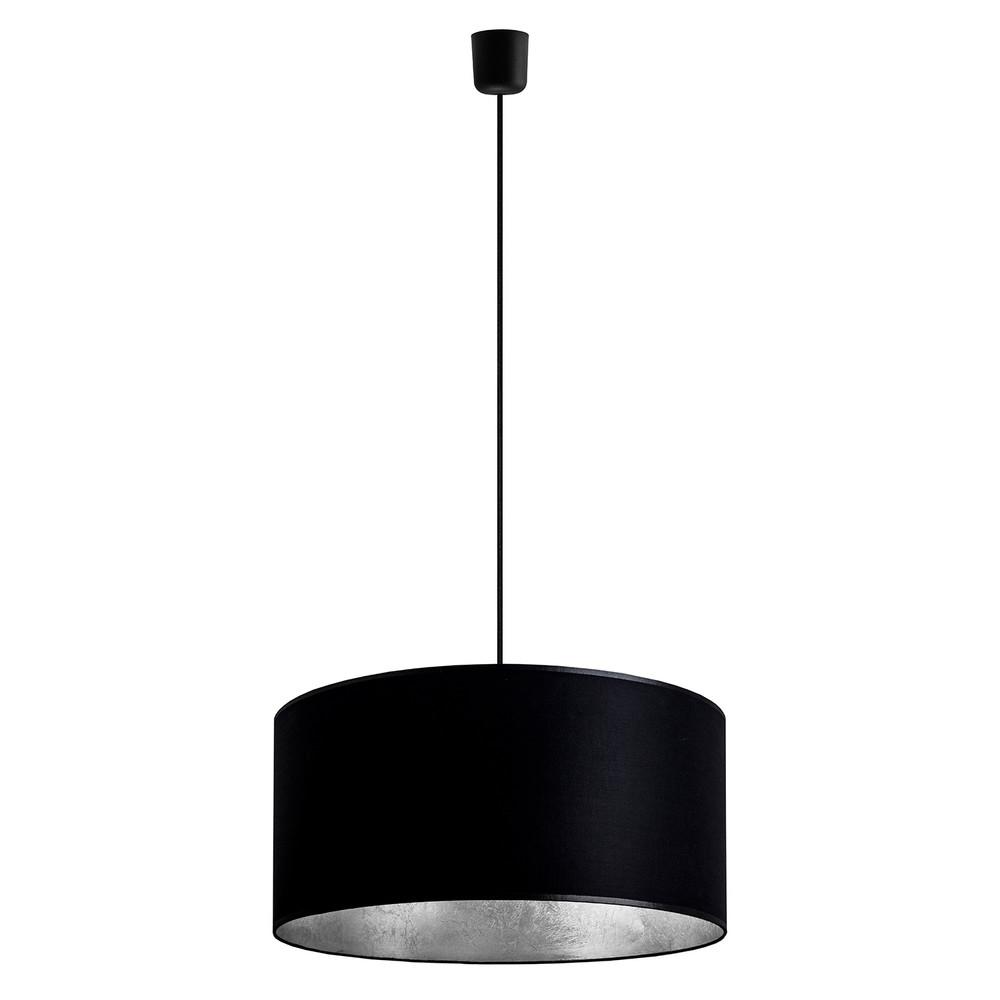Čierno-strieborné závesné svietidlo Sotto Luce Mika, Ø 50 cm