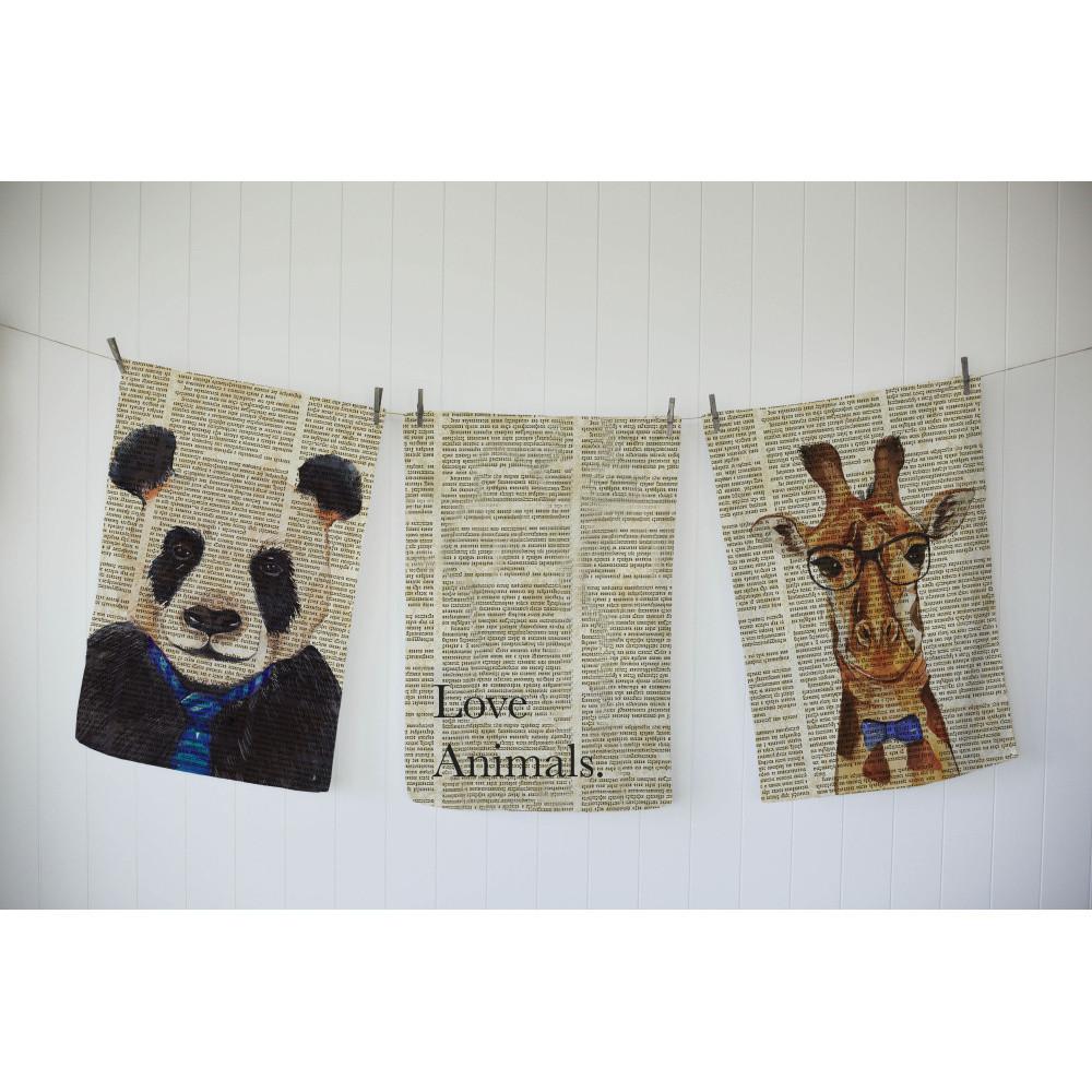 Sada 3 utierok Really Nice Things Newspaper Animals