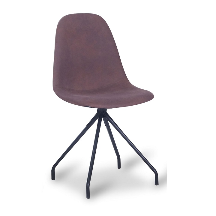 TEMPO KONDELA Jedálenská stolička, hnedá/čierna, BALRAM