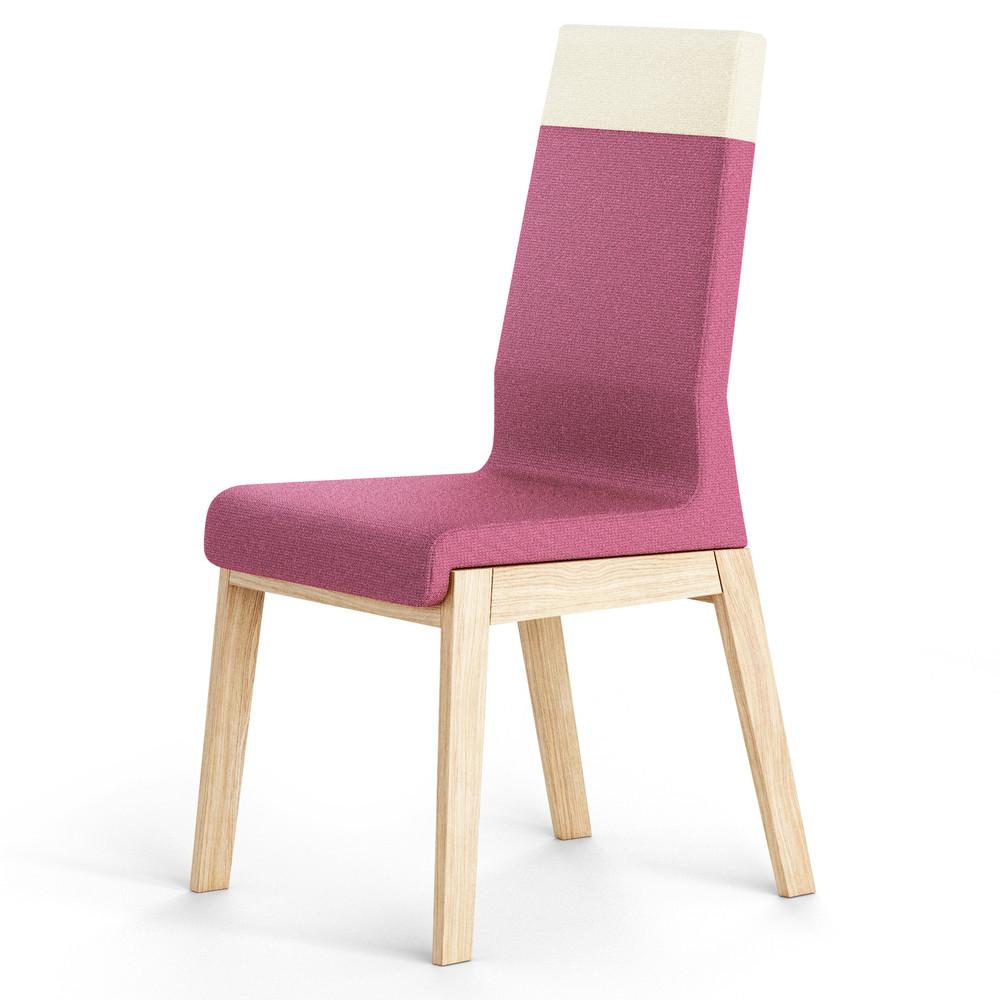 Ružová stolička z dubového dreva Absynth Kyla Two