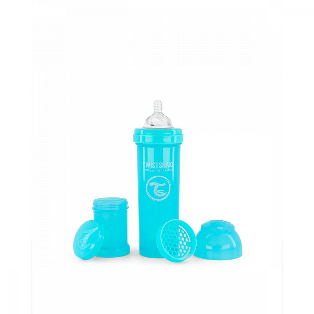 Twistshake Dojčenská fľaša Anti-Colic 330 ml, modrá