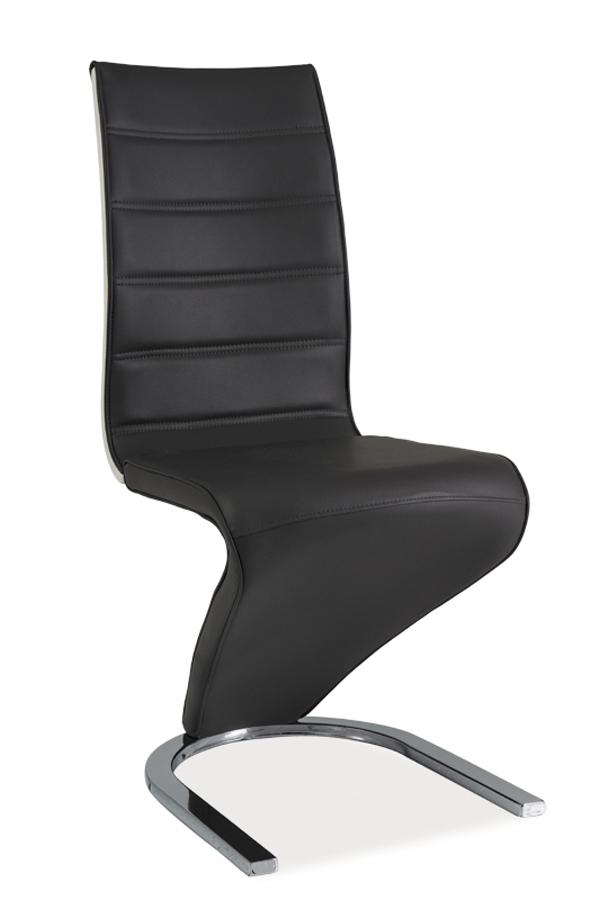Jedálenská stolička H-134 (ekokoža čierna + biela)