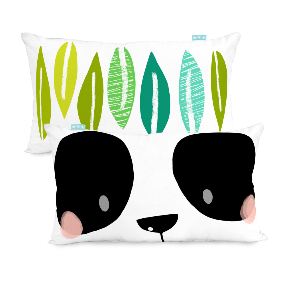 Obojstranná obliečka na vankúš Panda Garden, 50x30cm