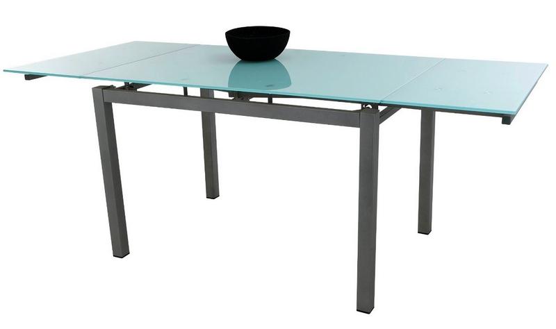 Romina 110-170x70 cm, kov/sklo