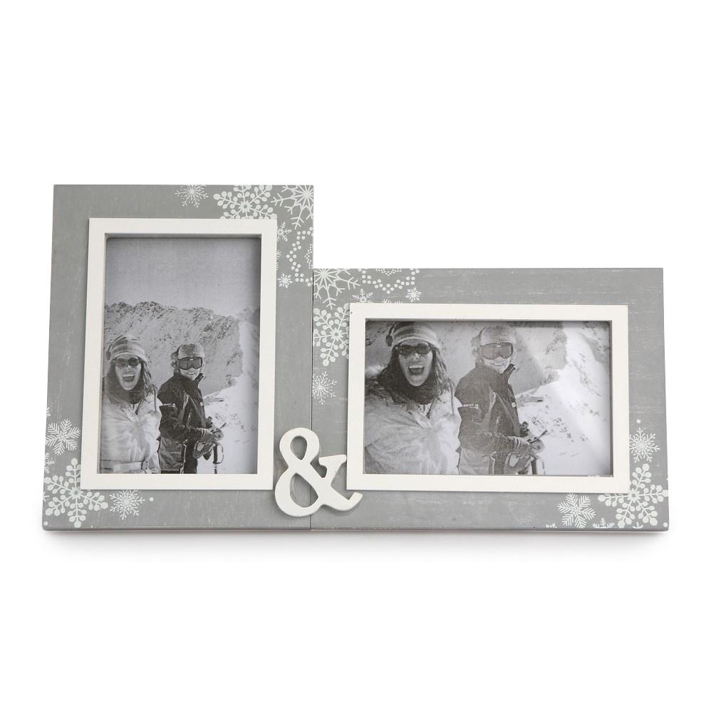 Altom Dvojitý fotorámček Love Winter 31,5 x 18 cm