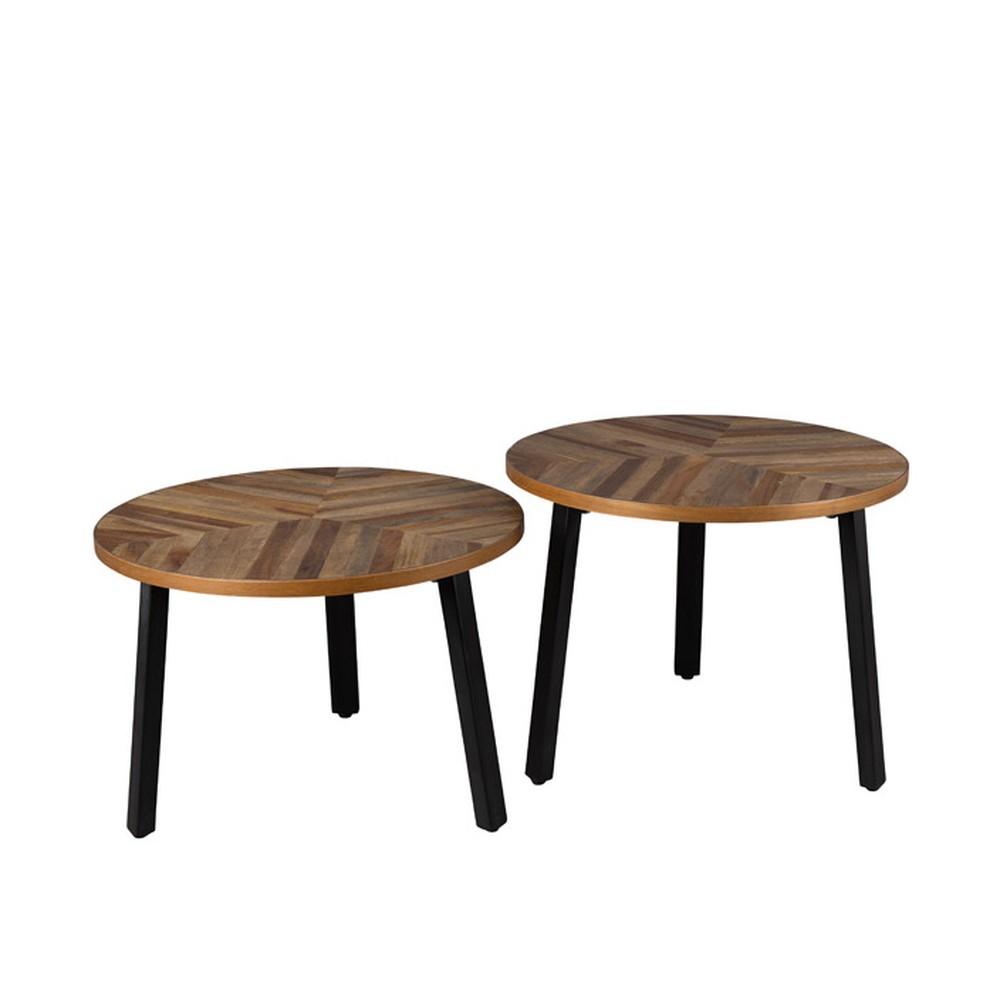 Sada 2 drevených stolíkov Dutchbone Mundu
