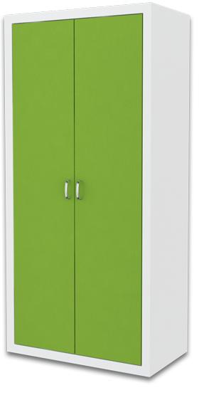 Detská skriňa FILIP / COLOR   Farba: biela / zelená