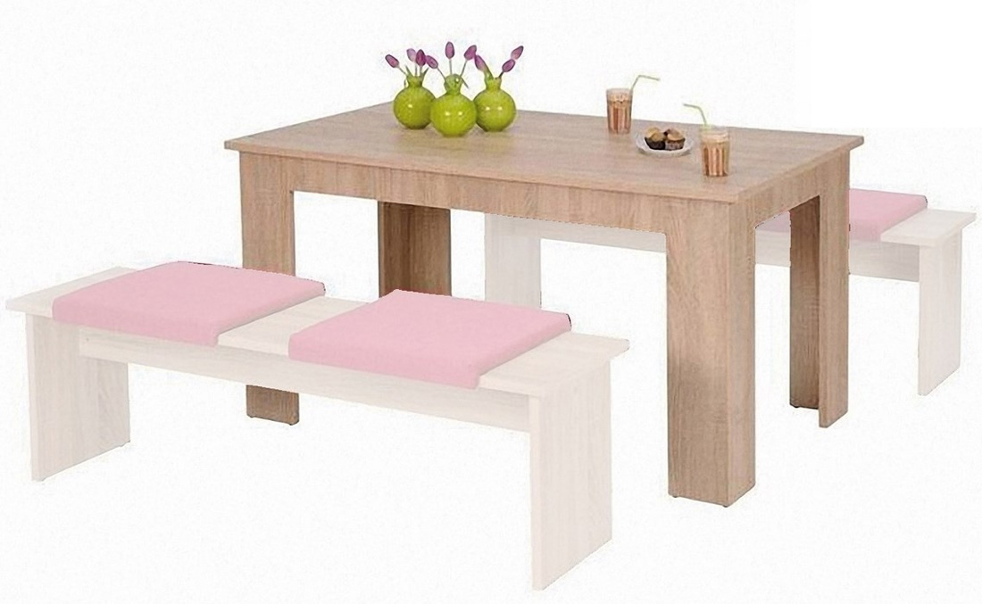 Jedálenský stôl MUNECH, dub sonoma