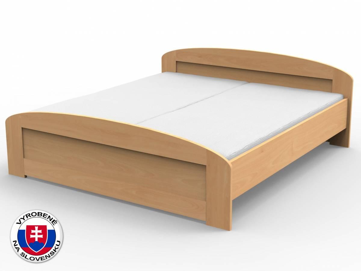 Manželská posteľ 180 cm Petra oblé čelo pri nohách (masív)