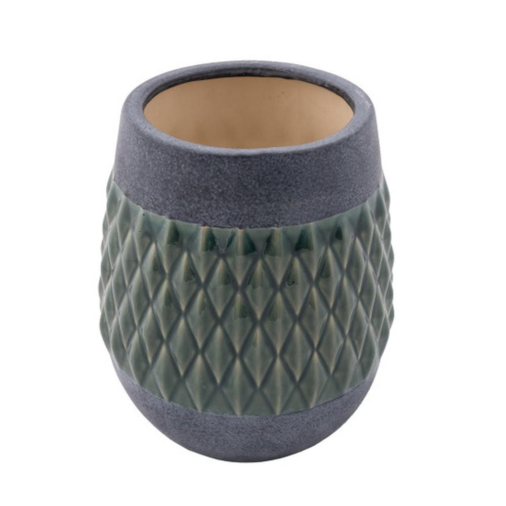 Keramická váza Zuiver Nito Moss, výška 23 cm