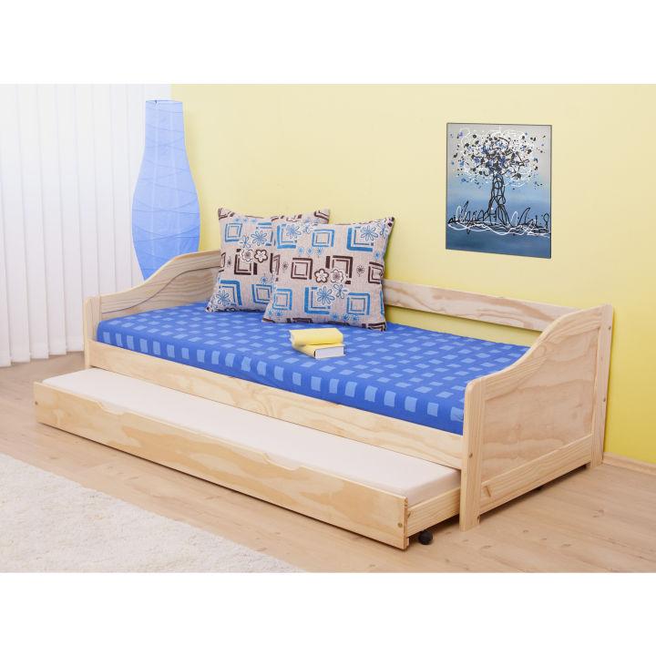 TEMPO KONDELA LAURA 90 posteľ s prísteľkou - borovica