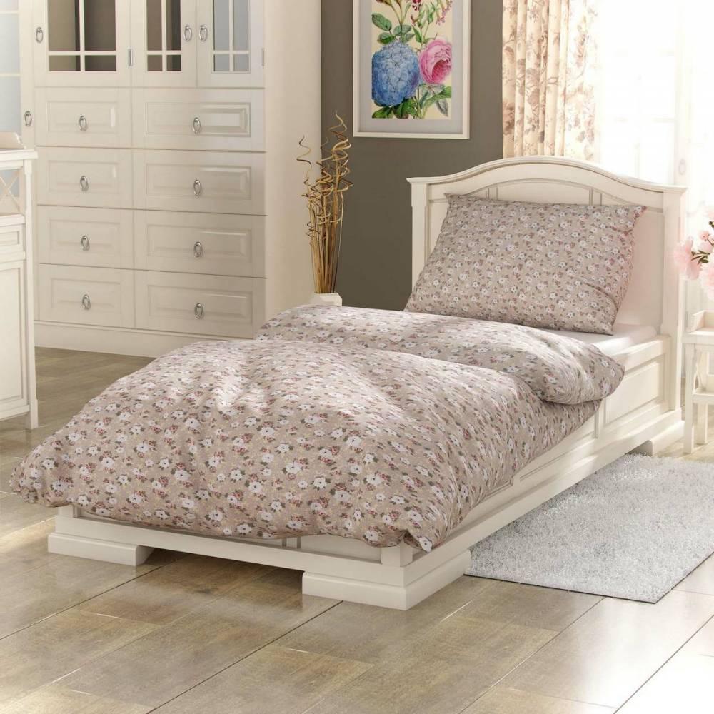 Kvalitex Bavlnené obliečky Provence Olívie béžová, 140 x 200 cm, 70 x 90 cm