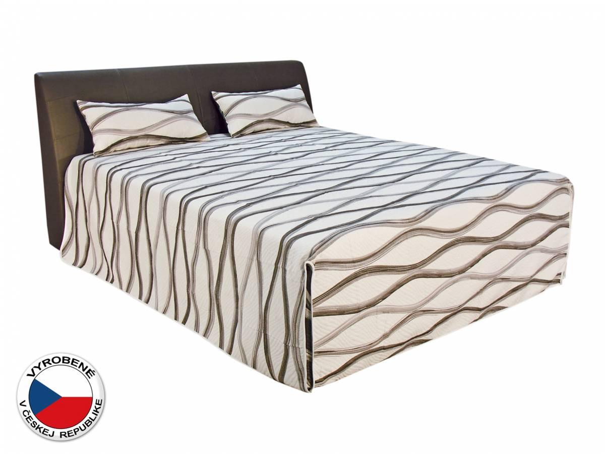 Manželská posteľ 180 cm Blanár Merkur (biela + hnedá) (s roštami a matracmi Ivana Plus)