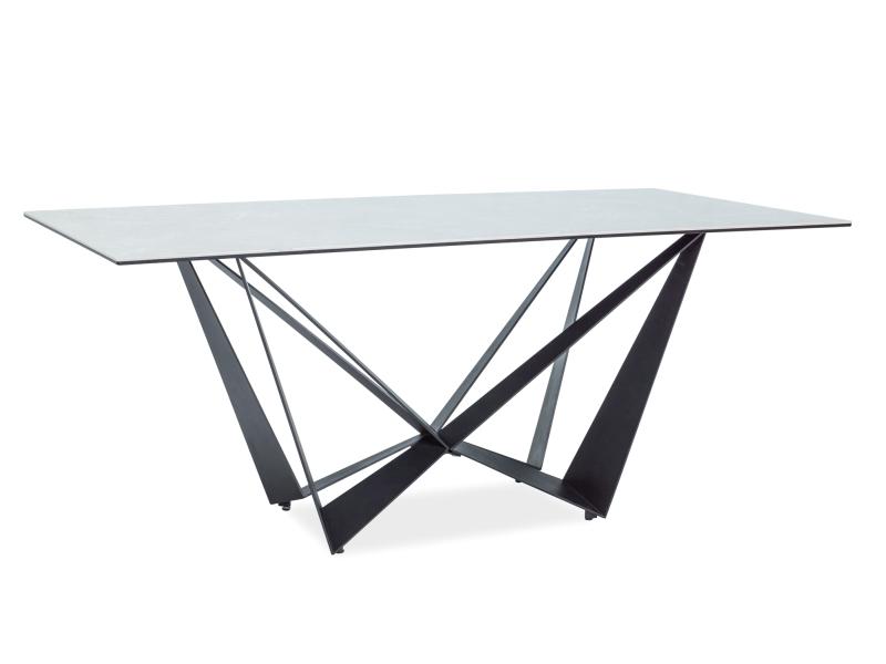 ASTANA jedálenský stôl, mramor/čierny mat