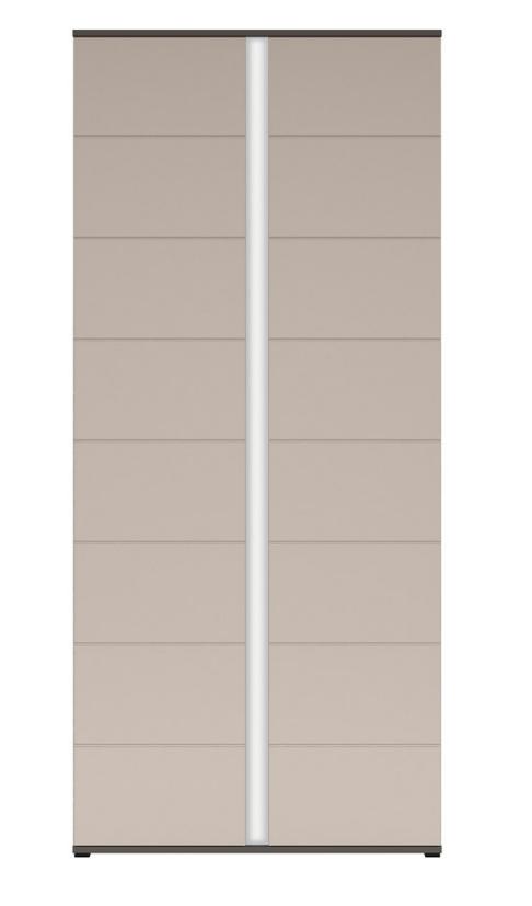 Šatníková skriňa Graphic REG2D/86/C   Farba: sivý wolfram / popol