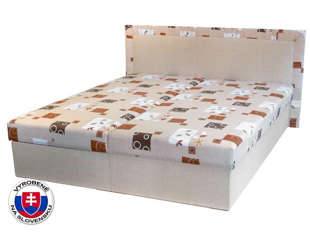 Manželská posteľ 160 cm Hedviga (s pružinovým matracom)