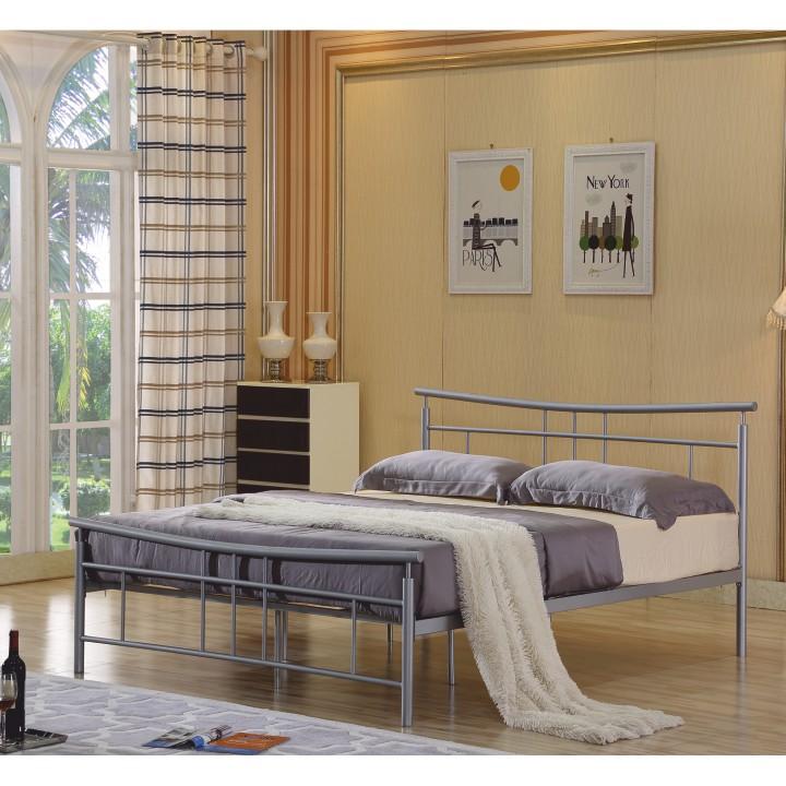 TEMPO KONDELA DORADO 160 posteľ s roštom - matná strieborná