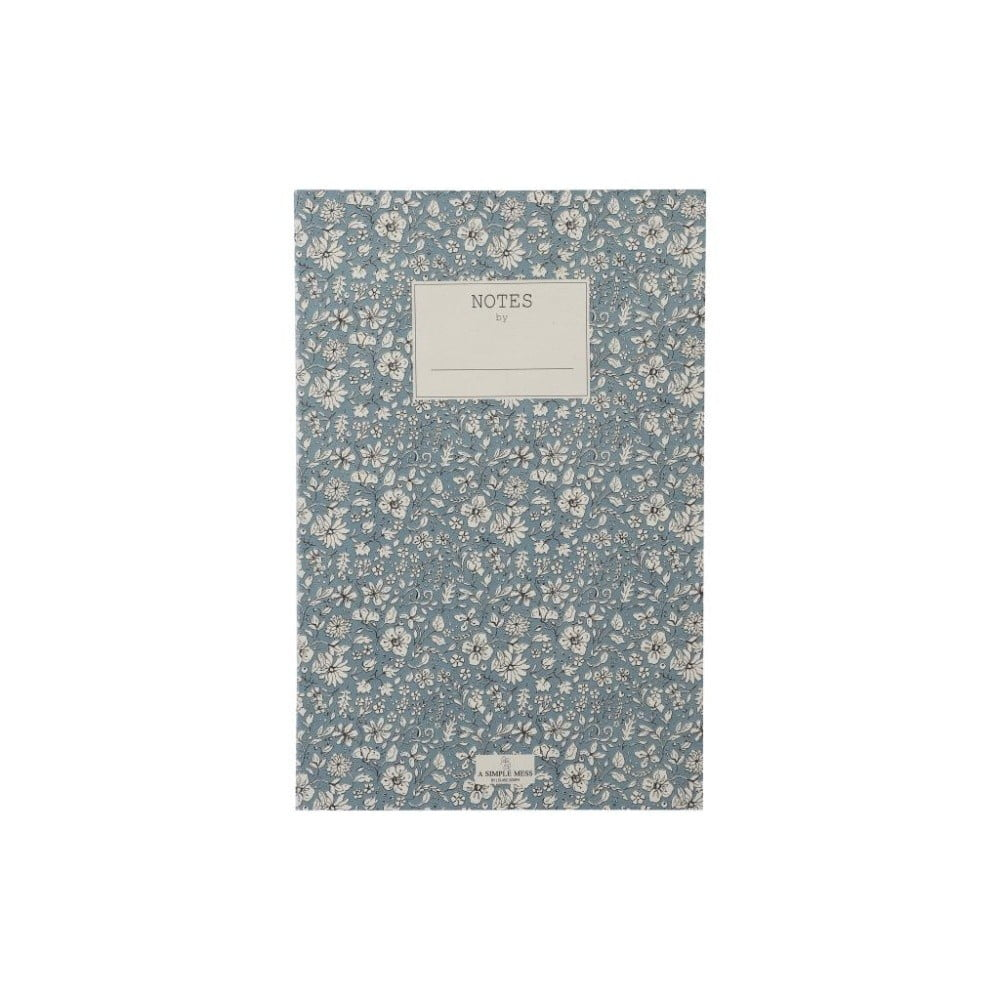 Zápisník A Simple Mess Nynne Ashley Blue, 21×14 cm