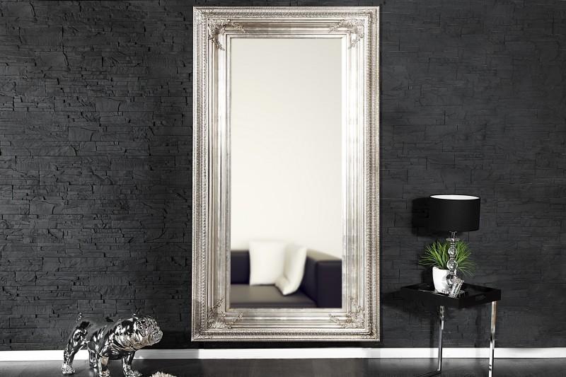 Zrkadlo na stenu RENESANCIA ANTIK 180 cm - antická strieborná