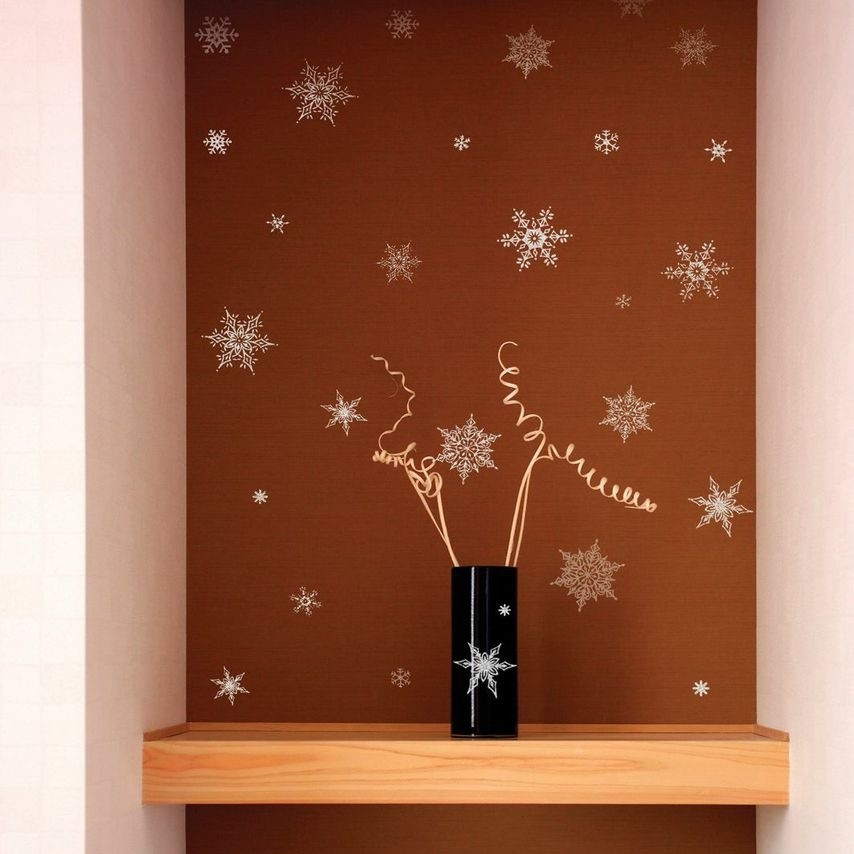 Samolepka Fanastick Christmas Silvr Flakes, 30 kusov