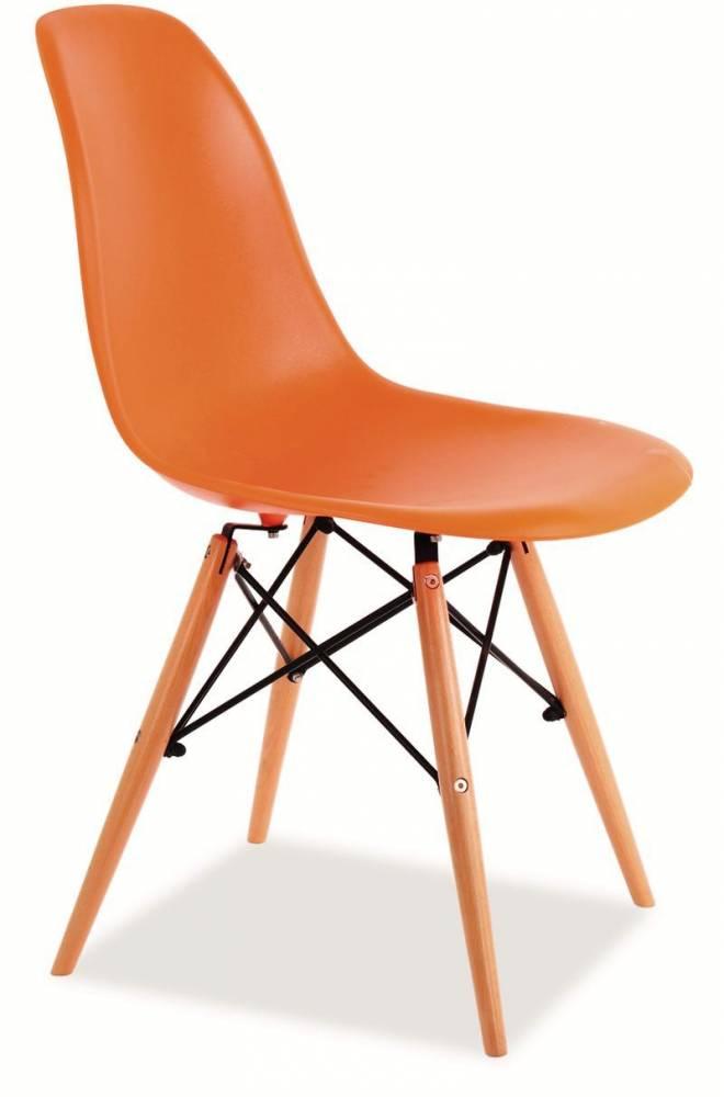 SIGNAL ENZO jedálenská stolička - buk / oranžová