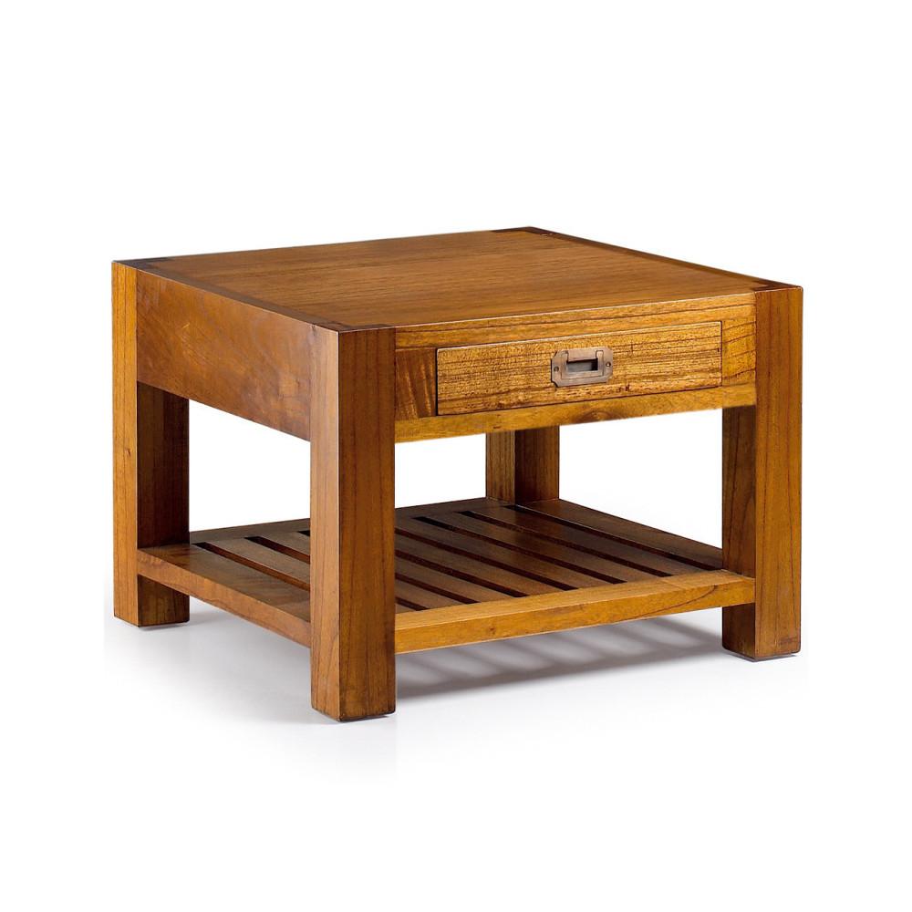 Drevený kávový stolík s policou Moycor Star