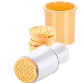 Tescoma DELÍCIA pečiatka na sušienky 6 dekorov, žltá