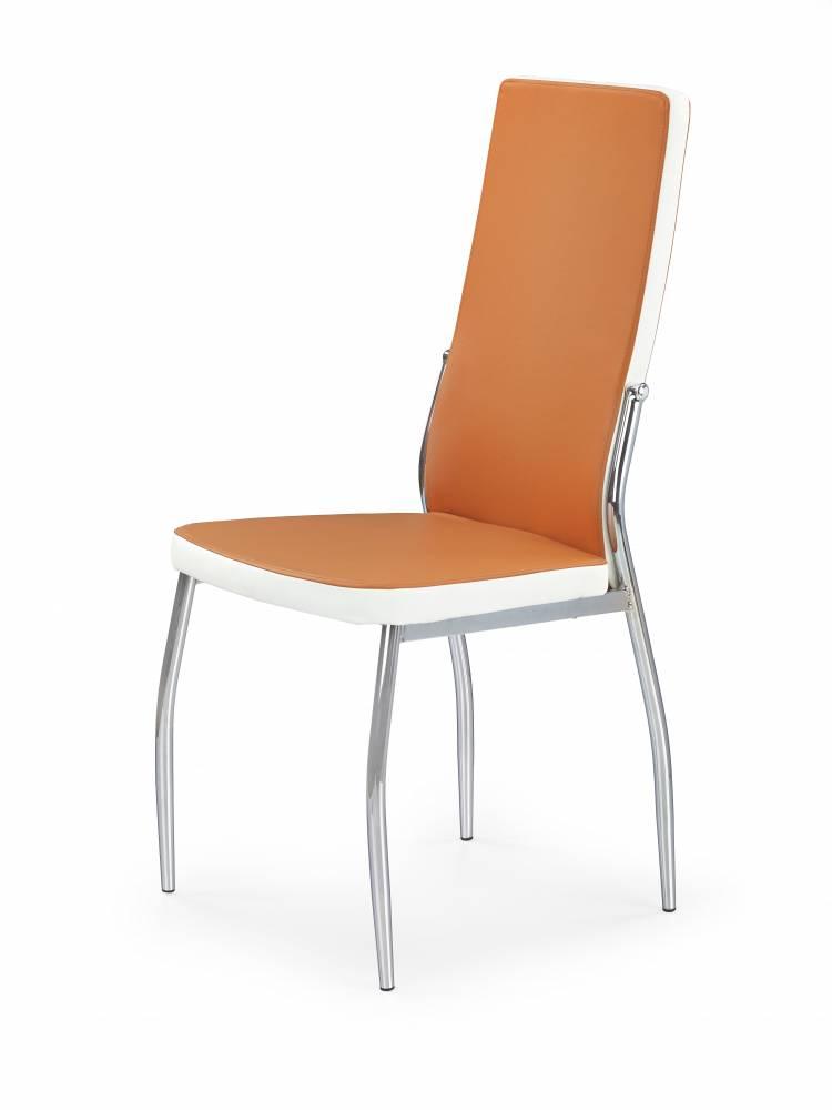 Jedálenská stolička K210 (oranžová + biela)