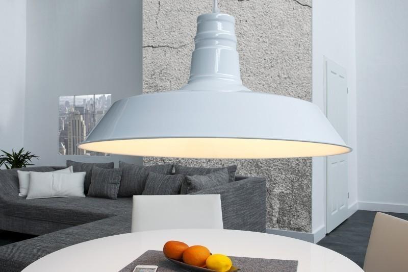 Visiaca lampa LUKA 45 cm - biela