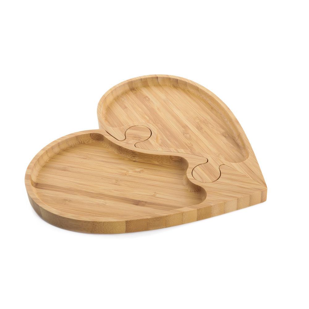 Servírovací podnos Bambum Puzzle Heart