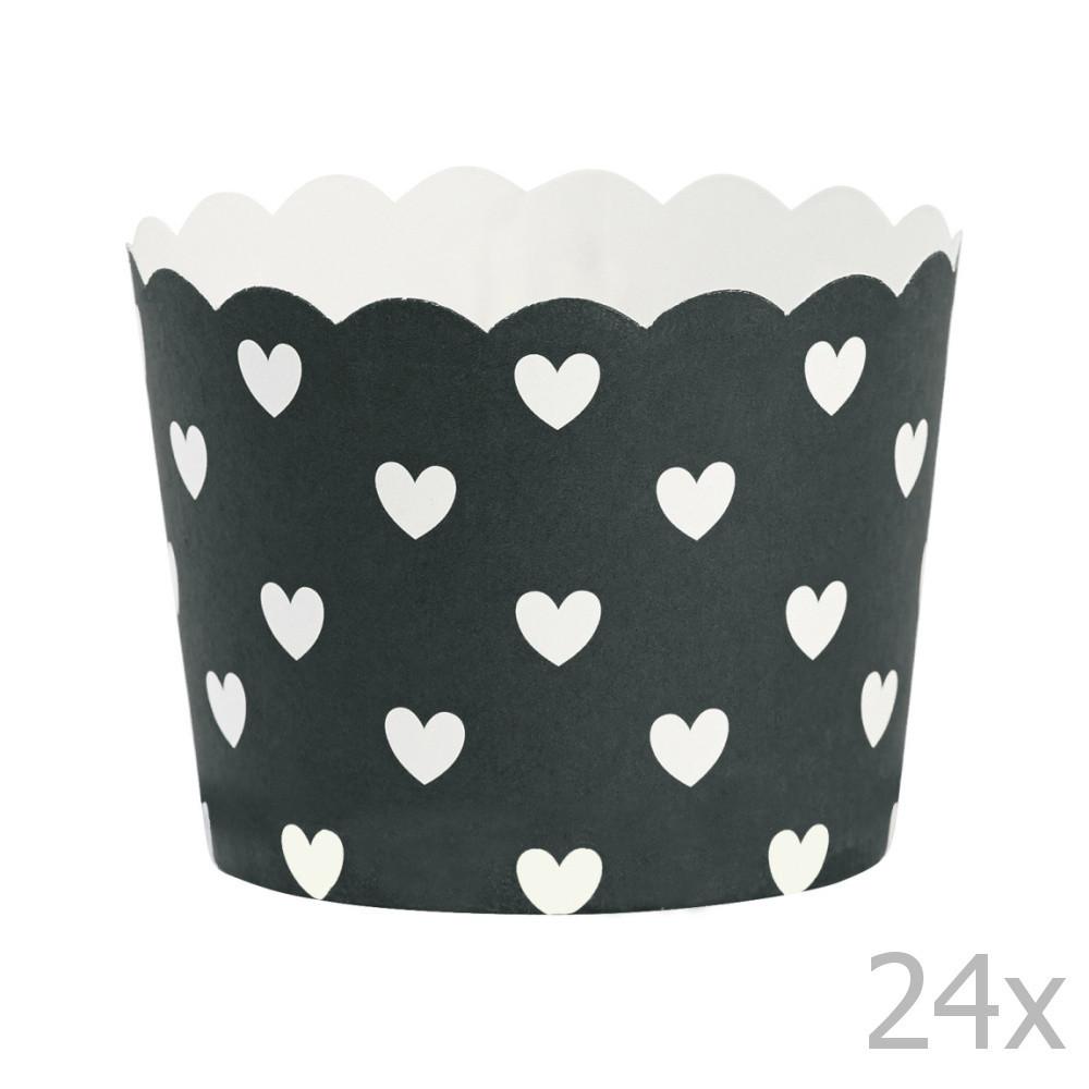 Sada 24 košíčkov na pečenie Miss Étoile Hearts